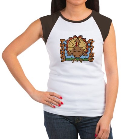 Thanksgiving Turkey Women's Cap Sleeve T-Shirt