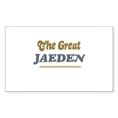 Jaeden Rectangle Sticker