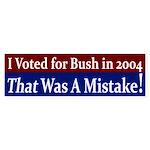 Voted For Bush in 2004 bumper sticker