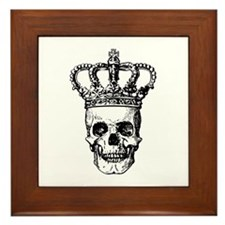 Crowned Skull (black) Framed Tile