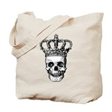 Crowned Skull (black) Tote Bag
