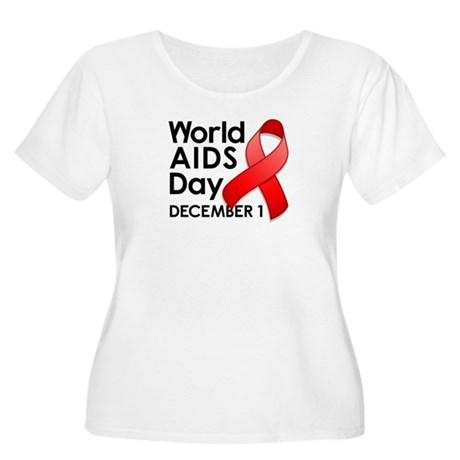 World AIDS Day Women's Plus Size Scoop Neck T-Shir