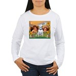Cherubs / Bull Terrier Women's Long Sleeve T-Shirt