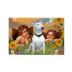 Cherubs / Bull Terrier Rectangle Magnet (10 pack)