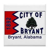 Bryant AL Flag Tile Coaster
