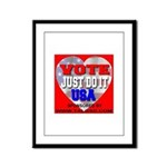 Vote Just Do It USA Framed Panel Print