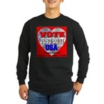 Vote Just Do It USA Long Sleeve Dark T-Shirt