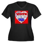 Vote Just Do It USA Women's Plus Size V-Neck Dark