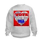 Vote Just Do It USA Kids Sweatshirt