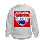 Vote Just Do It USA Kids Sweatshirt