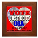 Vote Just Do It USA Framed Tile