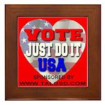 Vote Just Do It USA Framed Tile