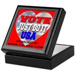 Vote Just Do It USA Keepsake Box
