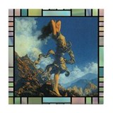 Tile Coaster Ecstasy by Maxfield Parrish