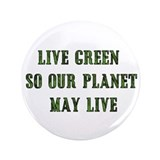 "Live Green 3.5"" Button (100 pack)"