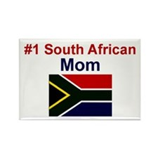S Africa-#1 Mom Rectangle Magnet