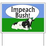 Impeach Bush Moo Cow Yard Sign