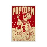 Retro Popcorn Circus Clown Rectangle Magnet