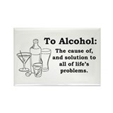 To Alcohol Rectangle Magnet