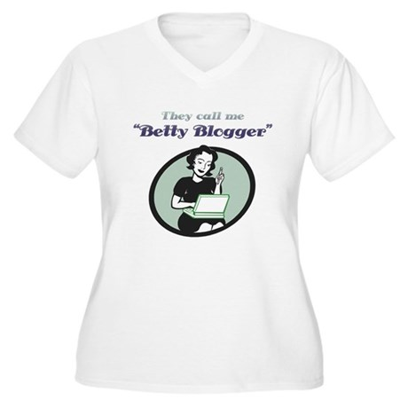 Betty Blogger Lady Women's Plus Size V-Neck T-Shir