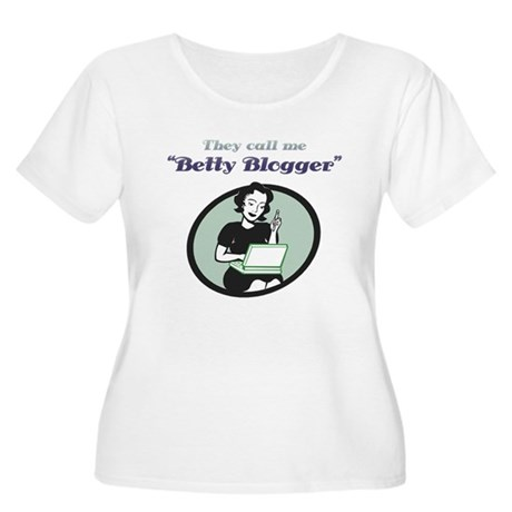 Betty Blogger Lady Women's Plus Size Scoop Neck T-