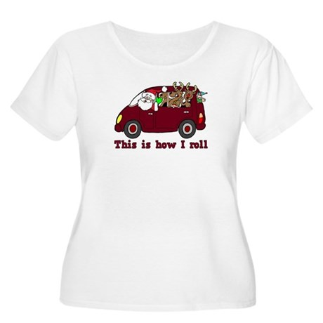 This is How I Roll Santa Women's Plus Size Scoop N