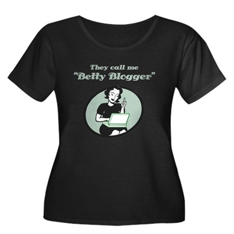 Betty Blogger Lady Women's Plus Size Scoop Neck Da