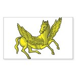 Pegasus Rectangle Sticker