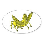 Pegasus Oval Sticker