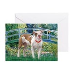 Bridge / Pitbull Greeting Card