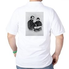 Lincoln Reading to Son Tod T-Shirt