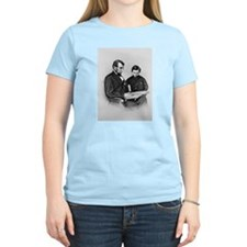 Lincoln Reading to Son Tod Women's Pink T-Shirt
