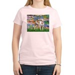 Lilies & Pitbull Women's Light T-Shirt