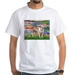 Lilies & Pitbull White T-Shirt
