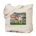 Lilies & Pitbull Tote Bag