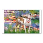 Lilies & Pitbull Sticker (Rectangle)