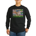 Lilies & Pitbull Long Sleeve Dark T-Shirt