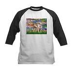 Lilies & Pitbull Kids Baseball Jersey