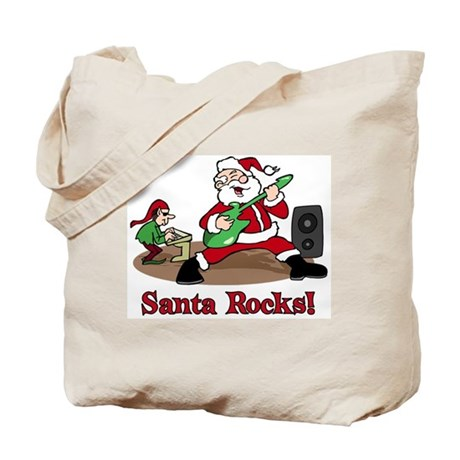 Santa Rocks Tote Bag