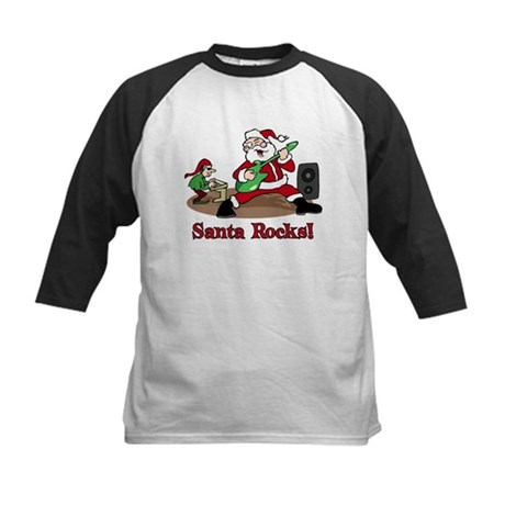 Santa Rocks Kids Baseball Jersey