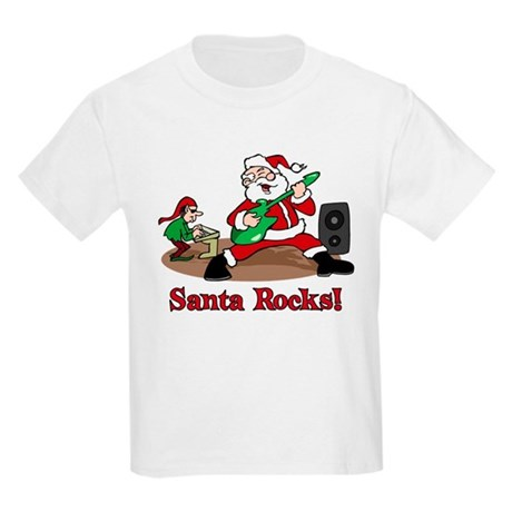 Santa Rocks Kids Light T-Shirt