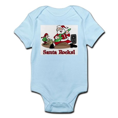 Santa Rocks Infant Bodysuit