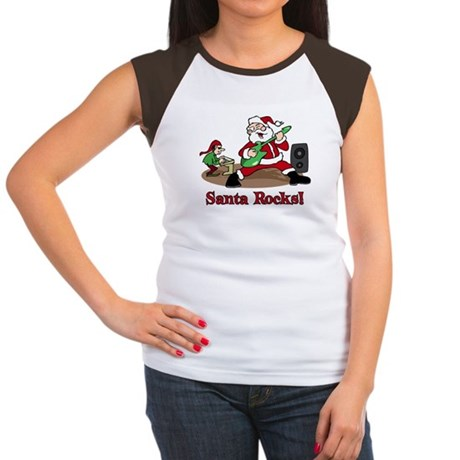 Santa Rocks Women's Cap Sleeve T-Shirt