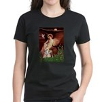 Seated Angel / Pitbull Women's Dark T-Shirt
