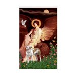 Seated Angel / Pitbull Sticker (Rectangle)