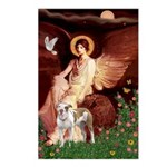 Seated Angel / Pitbull Postcards (Package of 8)