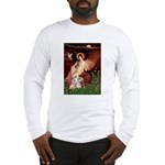 Seated Angel / Pitbull Long Sleeve T-Shirt