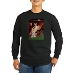 Seated Angel / Pitbull Long Sleeve Dark T-Shirt