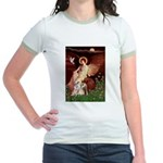 Seated Angel / Pitbull Jr. Ringer T-Shirt