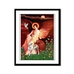 Seated Angel / Pitbull Framed Panel Print